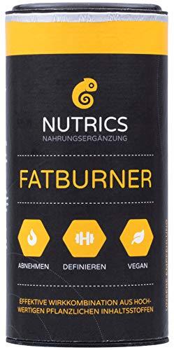 Nutrics Fatburner I 90 Kapseln hochdosiert I 100% Vegane Wirkkombination I Made in Germany