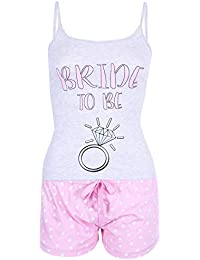 Love to Lounge Grey Top   Pink Shorts Pyjama Set Ladies Bride to Be 28ebe81e5