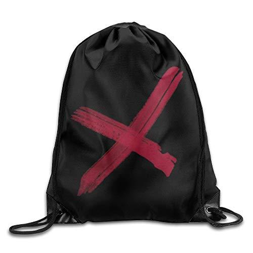 HLKPE School Drawstring Backpack Chris Brown X Logo Backpack
