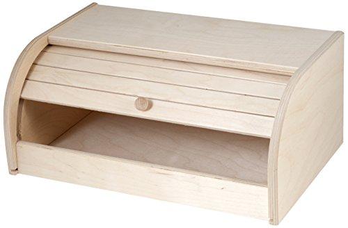 Home Rombo portapane con tapparella in legno chiaro