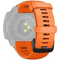 Cooljun Compatible avec Garmin Instinct,Bracelet de Montre de Rechange de Bracelet de libération Rapide de Silicium de Sport