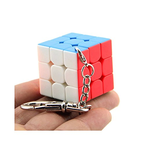 Moyu 3x3 Mini Cube Keychain Smooth Cube Pendant Children Puzzle Gift 35mm & 40mm | Dingze (30mm) - 3 X 3 Mini