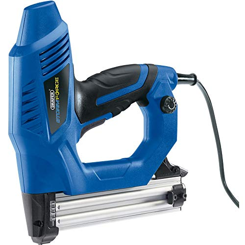 Draper elektrisches Hochleistungs-Heftgerät-Nagler-Set, 230 V, Blau