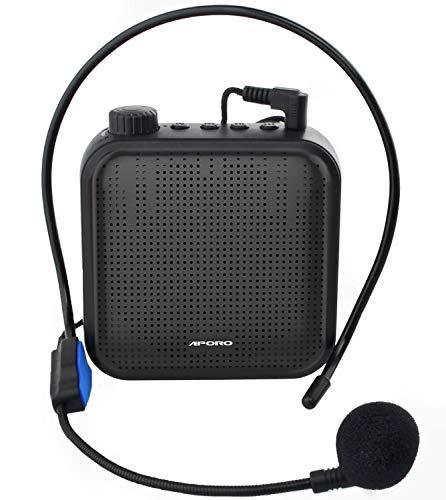 SHIDU Amplificador de voz port/átil con micr/ófono 15W bater/ía recargable Voice Amplifier sistema de megafon/ía Bluetooth amplificador voz para profesores gu/ías tur/ísticos entrenadores deportivos,