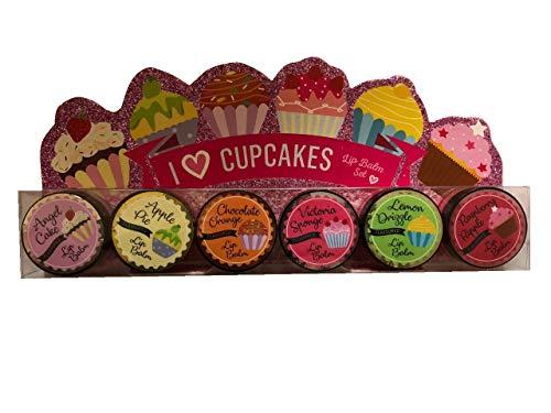 Pack of 6 Cupcake Flavour Lip Balm Balms Gift Set