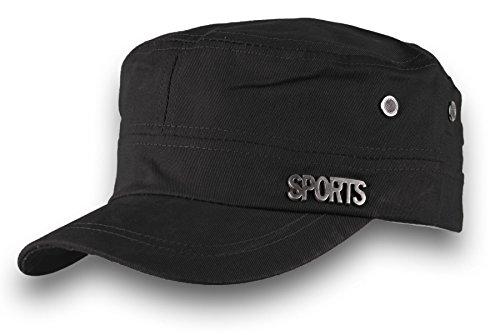 HOMME FEMME Militaire Casquette de Baseball Cap Sport Bonnet Chapeau Snapback JM (Black)