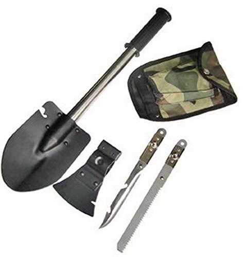 4in1 Multifunktionale Schaufel. Multifunktionale Schaufel mit Axt, Säge und Messer inkl. Tasche. Geeignet für Gartenarbeit, zum Campen oder zum Angeln - Von JFC