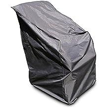 Relaxdays 10019005 - Funda sillón / sillas apilables, resiste UV, color gris