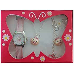 Animal Aspirations Little Gemz Pink Piglet Jewellery Set