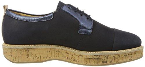 Marc O'Polo 70113843401200 Lace Up, Chaussures à Lacets Femme Bleu foncé