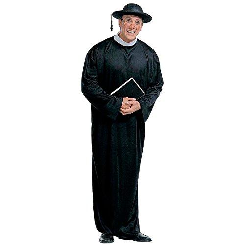 Sacerdote costume reverendo travestimento di carnevale da religioso prete uomini pastore - L 54/56
