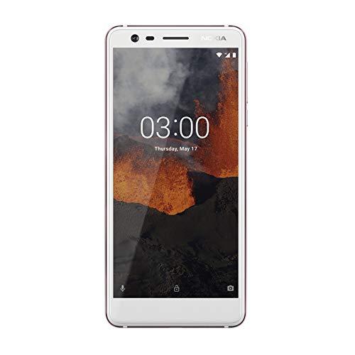 "Nokia 2 -SS (1 SIM), Smartphone de 5"" (Quad-Core 1.3 GHz, Memoria 8 GB Ampliable hasta MicroSD de 128 GB, cámara Trasera 8 MP, Delantera 5MP, Android 7.0) Color Blanco"