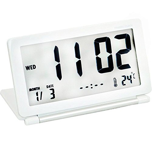 KHSKX Kreative einfach und modischen Flip, niedliche schläfrig Uhr, QA-141 weiß