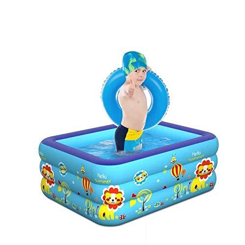 LX inflatable toys Sommer Quadratische Aufblasbare Pool Aufblasbare Spielzeuge, Badewanne, Schwimmbecken, Wasserballbecken, Geeignet Für Garten Im Freien - 150 * 110 * 55cm A