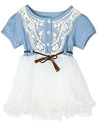 e7a546f83de4 Culater® 2018 Per Toddler Girl Primo Compleanno Battesimo Vestiti Doppio  Formale Tutu Abiti Neonate del Vestito…