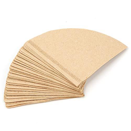 2-4 Peoples Kaffeefilterpapier, ungebleicht, Naturholz, 100 Stück