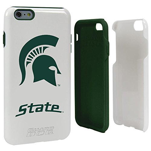 Guard Dog NCAA Michigan State Spartans Hybrid-Schutzhülle für iPhone 6 Plus, Weiß, One - Otterbox Armor 6 Iphone