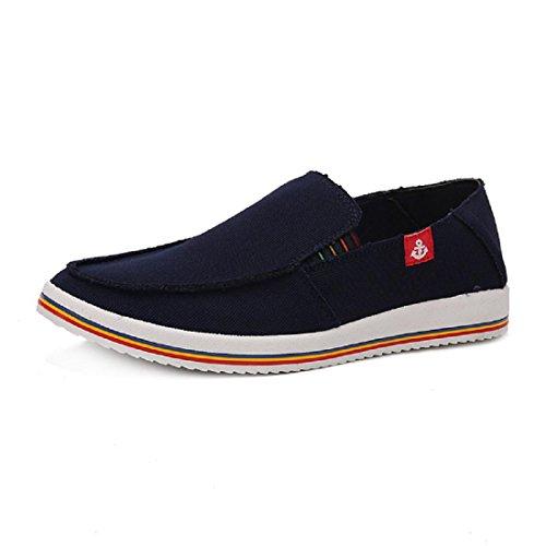 Hommes Chaussures de loisirs Rétro Respirant Portable Chaussures décontractées Chaussures plates Blue