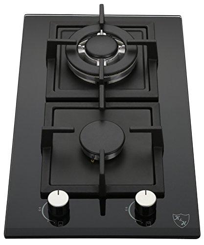 K&H® Domino Glas Gaskochfeld Wok Brenner Erdgas 2Z-KHGW -