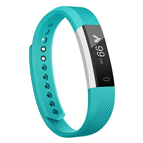moreFit Slim Fitness Tracker with Touch Screen Best Fitness Wrist Band Pedometer Smartband Sleep Monitor Watch for Easter Gift, Teal
