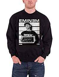 Eminem Homme Sweat-Shirt Noir Arrest Slim Shady logo officiel