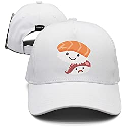 Gdzerth Kawaii Sushi Unisex Baseball Cap Snapback Hip Hop Caps Fitted Sport Sun Hats
