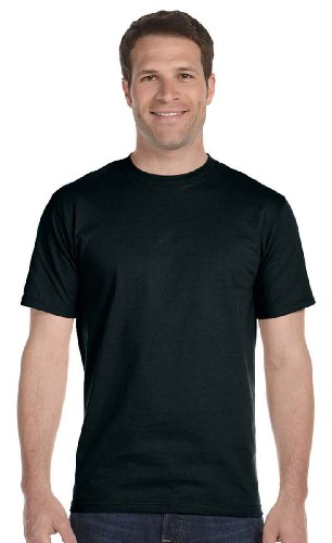 Hanes 5.2 OZ. ComfortSoft Cotton T-Shirt (5280) Pack of 14 Black