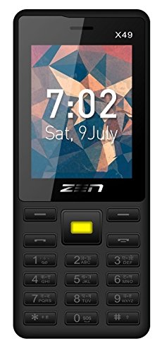 ZEN X49 Dual SIM Feature Phone (Black-Yellow) offer