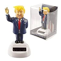 Donald Trump The Big Wig President Solar Novelty Waving Figurine for Home Office Car