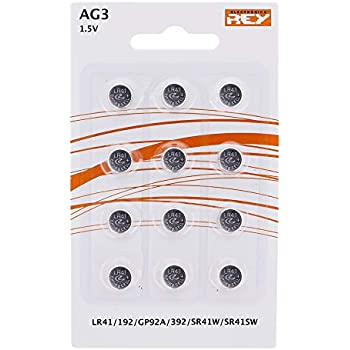 HYCELL 1516-0025 - Juego de Pila de botón alcalina LR41 1,5V, V3GA ...