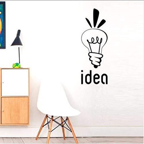 Lvabc Birne Idee Aufklärung Gedanken Wandaufkleber Für Kindergarten Kinderzimmer Home Art Decor Vinyl Aufkleber Schlafzimmer Poster Wandbilder 42X125 Cm
