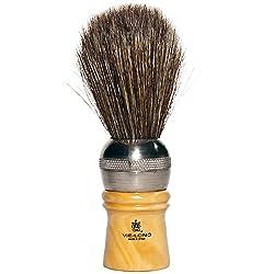 Vie-Long 04312 Professional Horse Hair Shaving Brush, Metal/Wooden Handle