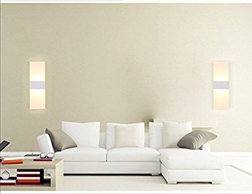 Unimall-Apliques-de-La-Pared-6W-LED-Lmpara-de-Pared-de-Baadores-de-Pared-Focos-de-Aluminio-y-Luz-Decorativa-Empleada-en-Lugar-Interior-Blanco-Clido