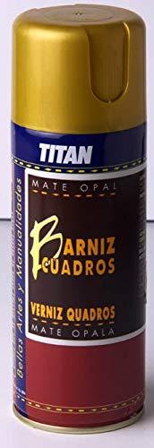 BARNIZ CUADROS SPRAY TITAN 400ML MATE (OLEO/ACRILICO)