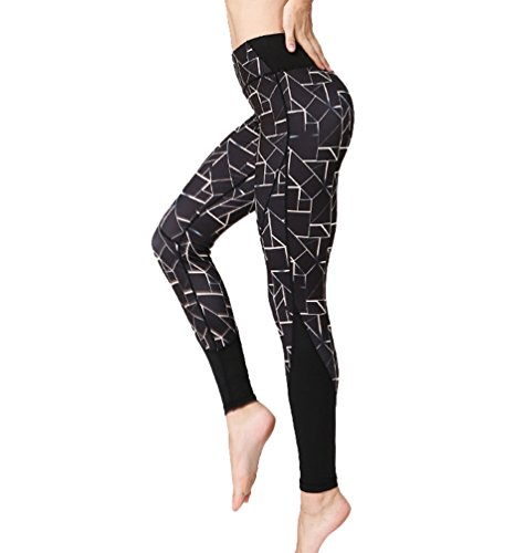Anguang Femmes Imprimé Yoga Fitness Gym Pilates Longue Pantalon Casual Jogging Legging Style5