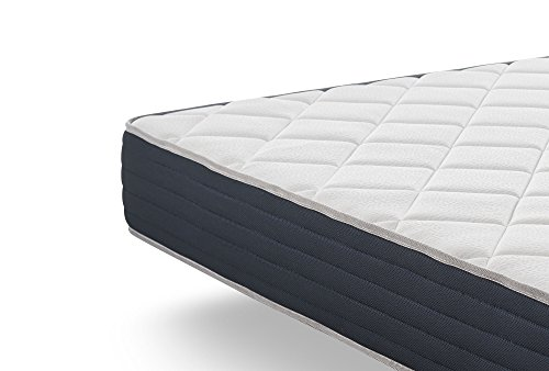 naturalex | Matelas Supervisco 160x200 cm |Mousse A Mémoire De Forme Thermosoft | Nouveau Système HQ Multicouches Blue Latex Support Adaptatif A 7 Zones De Confort Rest Foam Soft Latex 70 Kg/M3