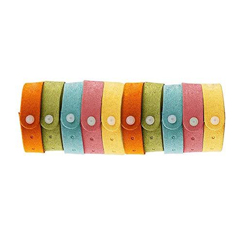 1 Packung Ungiftiger Mückenschutz Armband Ätherisches Öl Armband weiche Faser-Material Band für Kinder & Erwachsene zufällige Farbe -