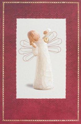 Willow Tree Susan Lordi Angel of Wonder Christmas | Karte gross