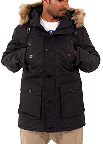 big-dawg-special-mens-boys-parka-puffa-padded-faux-fur-hooded-black-winter-fishtail-jacket-coat-xl
