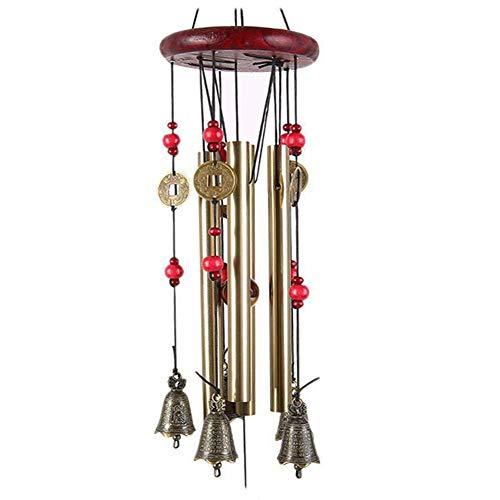 Garten Windspiel, Midore Chinesischer Stil 4 Röhren 5 Glocken Bronze Windspiel für Balkon und Garn Dekoration   Garten > Dekoration > Windspiele   Midore