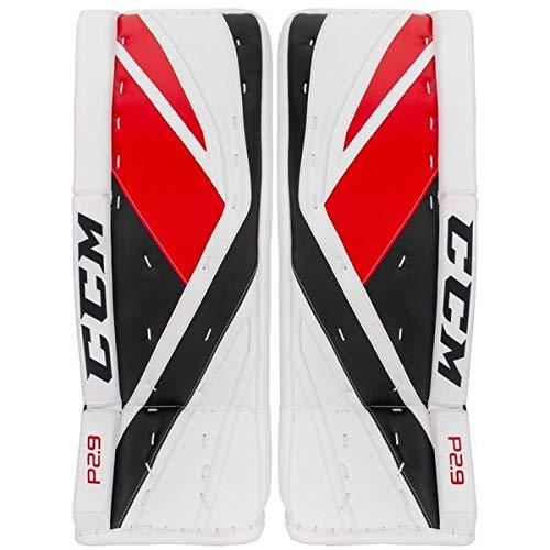 CCM Premier P2.9 Senior Goalie Schienen Senior, Größe:32 + 1 Zoll, Farbe:Weiß (FTWR White/Universe/Solar Red)