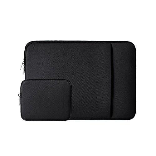 Bolsa de neopreno con bolsillo negro negro 14