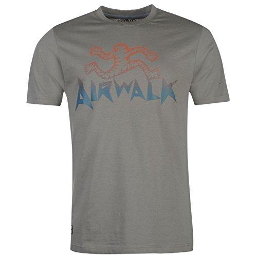 airwalk-herren-logo-t-shirt-kurzarm-rundhals-print-freizeit-baumwolle-grau-extra-lge