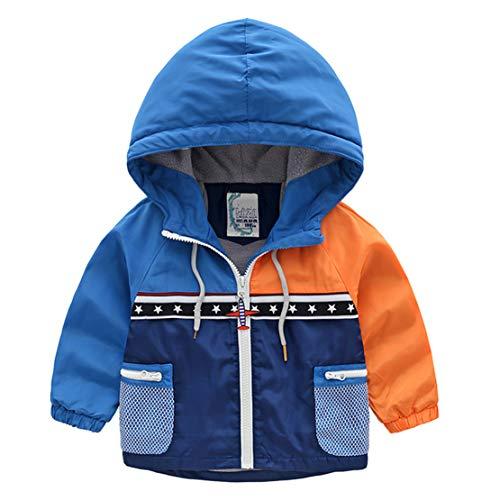 JRhong Casual Winter Jacken Kinder Jacke Warme OldschoolTrenchcoat Mode GefüTtert Trainings Outwear Farbig Winddicht Bomberjacke