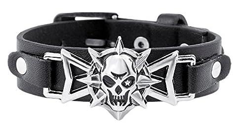 SaySure - Skeleton Skull Star Eye Punk Gothic Rock Leather