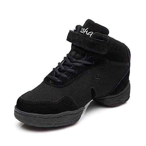 ZQ@QXConfortevole mesh traspirante ladies piazza moderna scarpe da ballo scarpe black