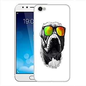 Snoogg Dog With Glares Designer Protective Back Case Cover For Vivo X9 Plus