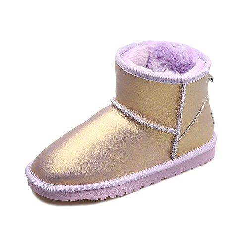 Heart&M Nuovo inverno neve stivali caldo impermeabile di ladies vacchetta cuoio tubo corto carino peluche stivali a