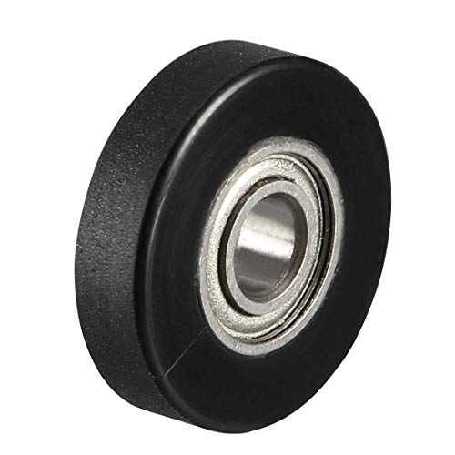 ZCHXD 2pcs 3x12x3mm Roller Idler Bearing Pulley Sliding Conveyor Wheel Black - Conveyor Roller Bearing