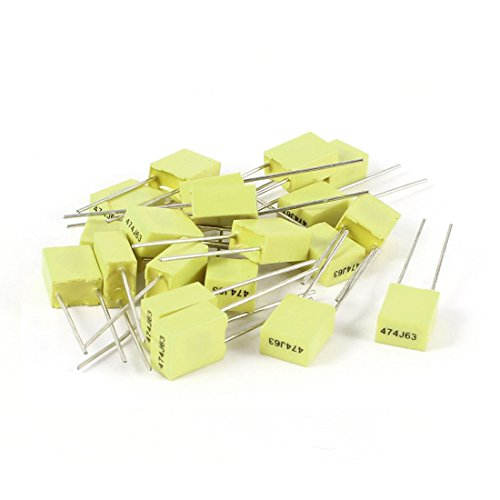 sourcingmapr-20-pcs-63v-047uf-470nf-radial-lead-box-type-film-correction-capacitors-yellow